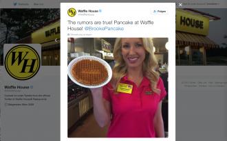Cooler Werbevertrag: Brooke Pancake und Waffle House