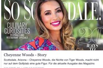 Cheyenne Woods auf dem Facebook-Auftritt der Golf Time