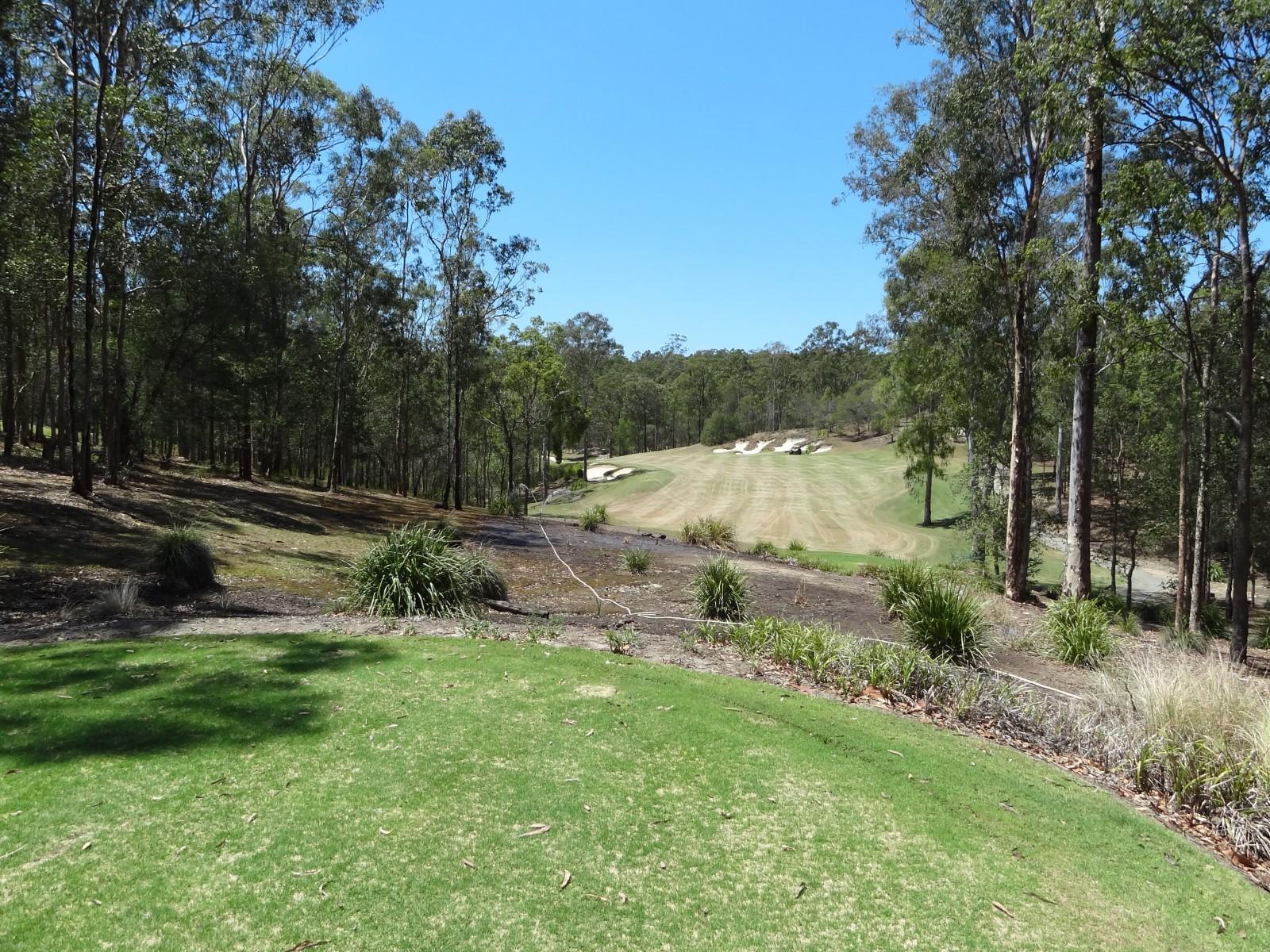 Ein einfacher Start: Tee 1 im Brookwater Golf Club