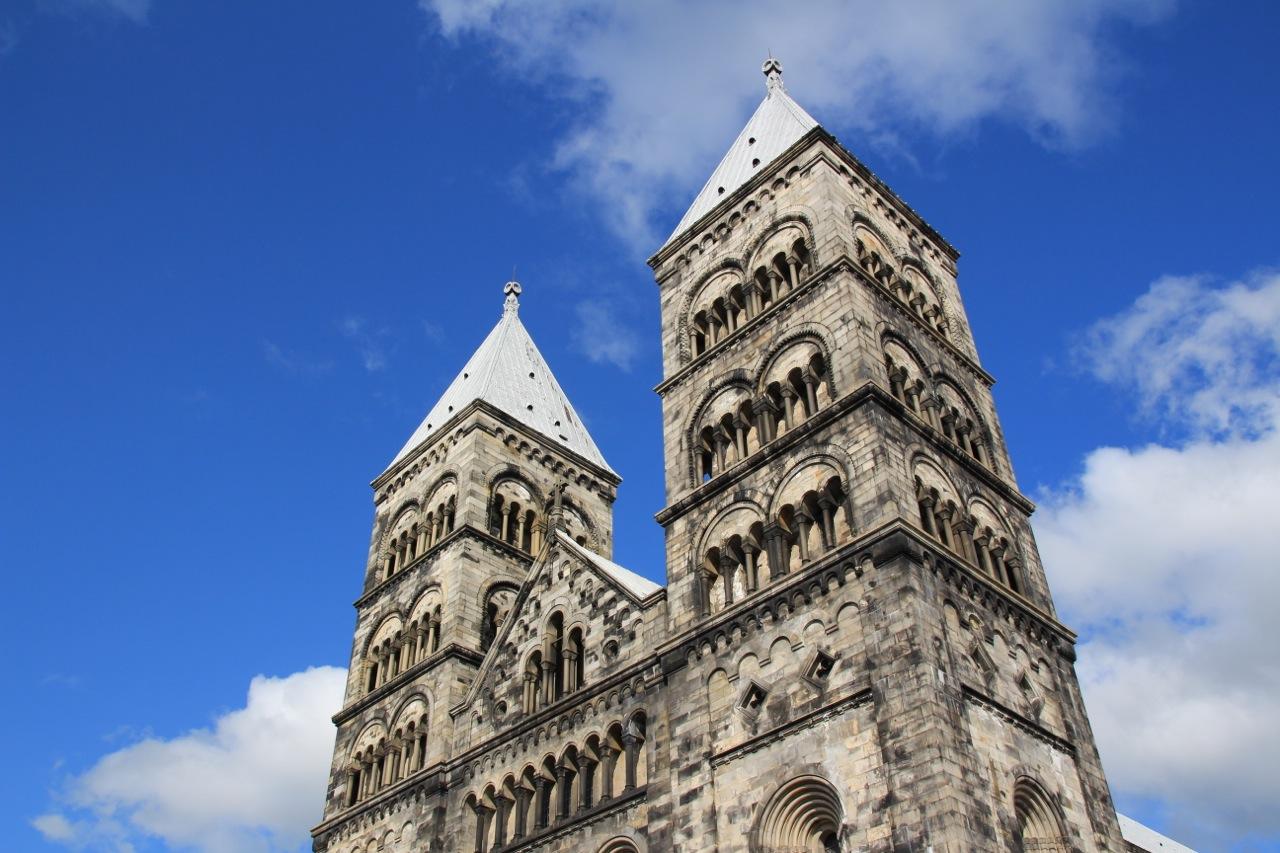 Der Dom in Lund. Schwedens meistbesuchte Kirche. Auch von innen wunderschön.