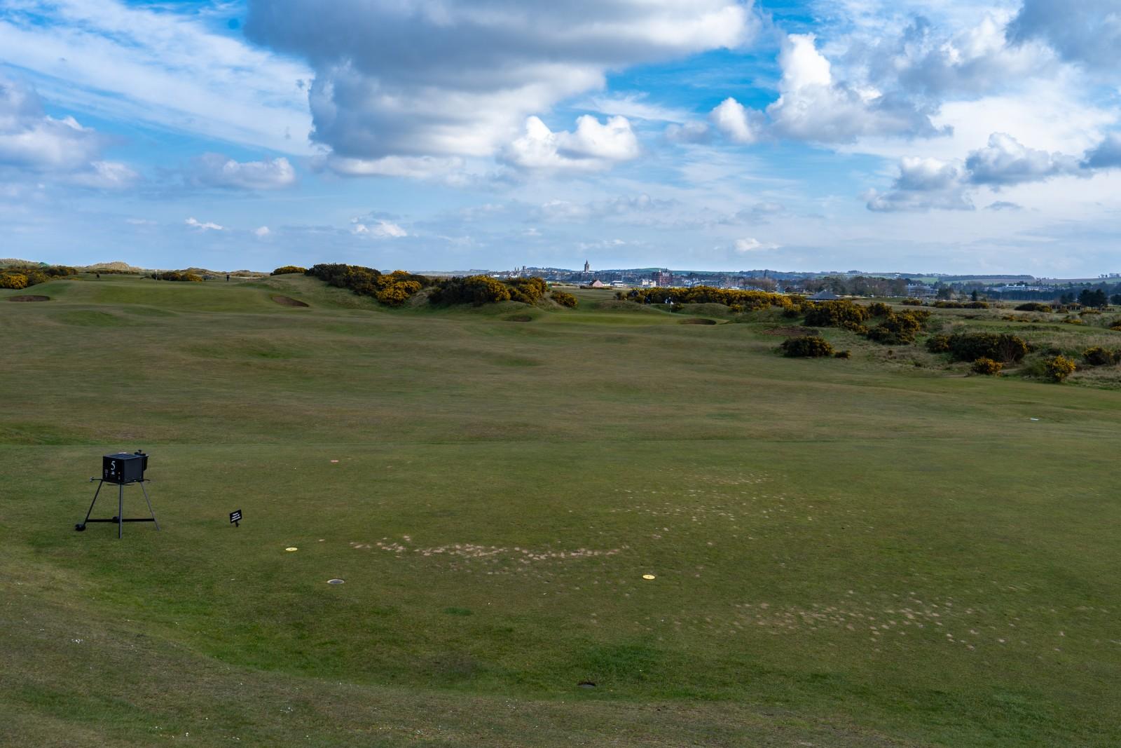 Blick vom Eden Course auf St. Andrews