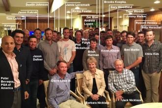 Die Teilnehmer vom Ryder-Cup-Dinner